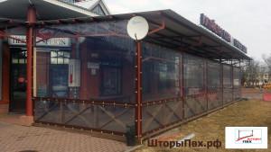 шторы ПВХ для веранды кафе